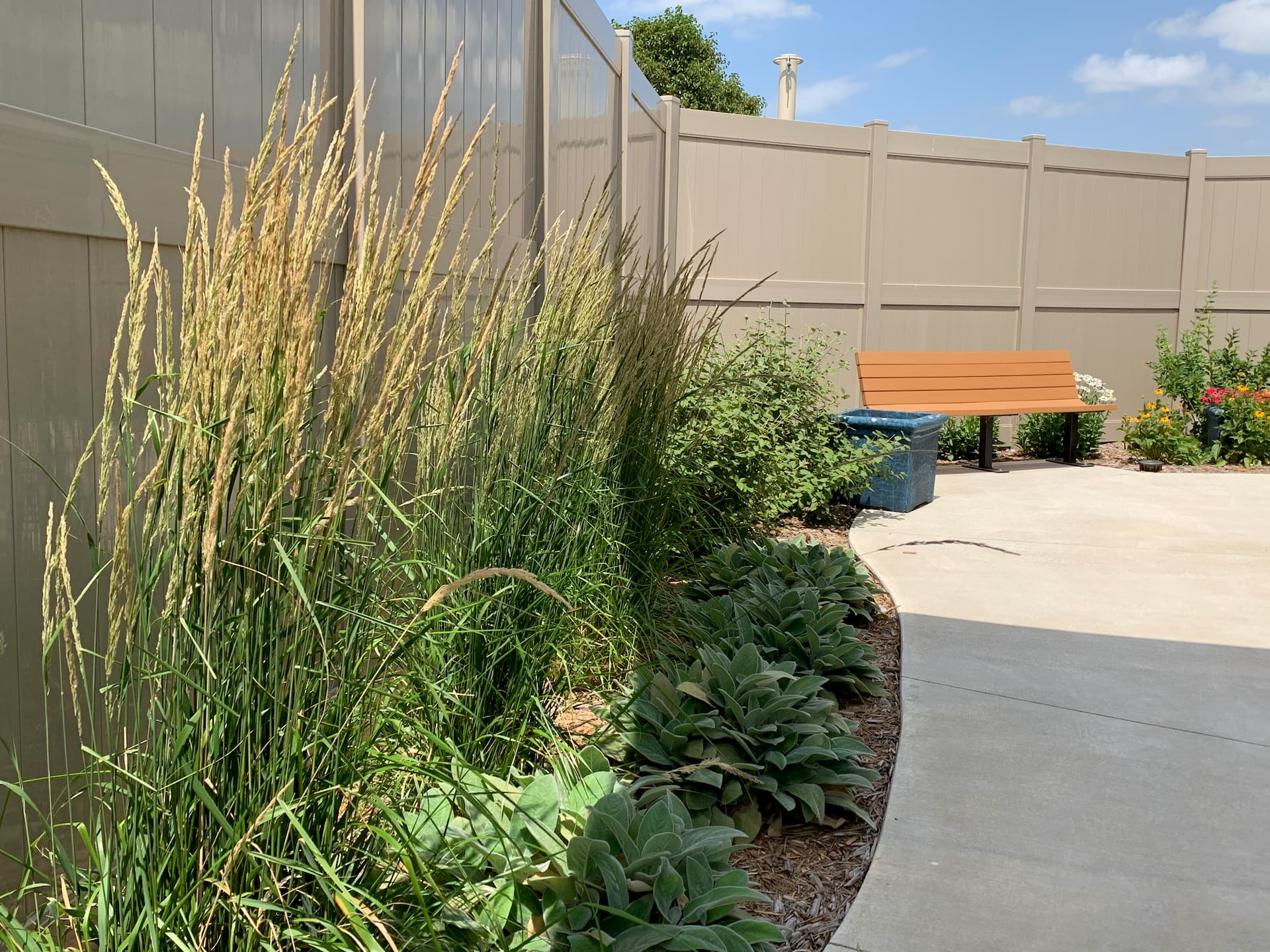 pampous grass and landscaping in Barrick and Kristi Wilson Terrace at newton medical center newton ks