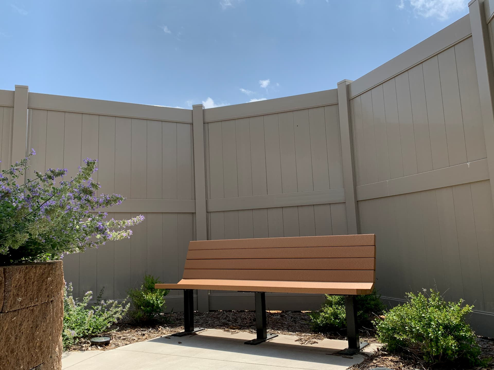Bench - Barrick and Kristi Wilson Terrace at newton medical center newton ks