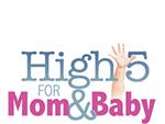 High 5 for Mom & Baby logo newton medical center nmc health maternal child family birthing center newton ks