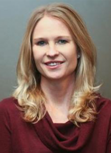 Dr. Shauna Kern in red shirt - headshot