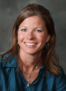 Karla Hostetler, APRN wearing blue shirt - headshot