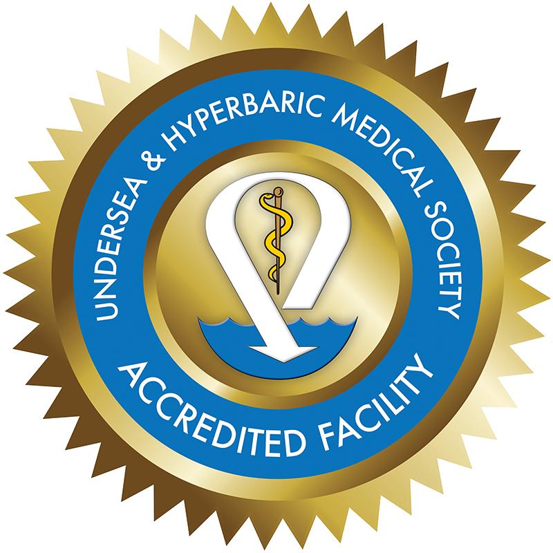 Undersea & Hyperbaris Medical Society Accreditation Logo