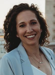 Dr. Jessica Paxson in light blue sport jacket - headshot
