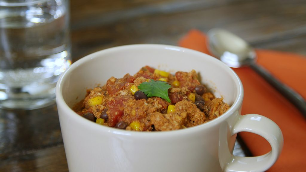 Warm up with this heart-healthy recipe for turkey chili