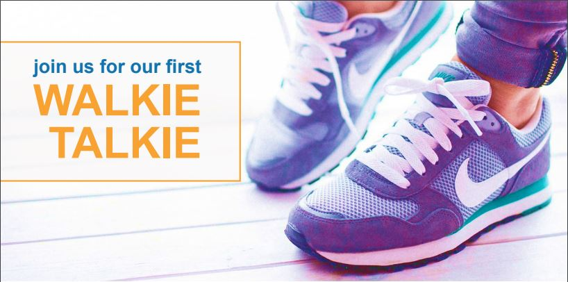 Walkie Talkie Social graphic with nike shoes