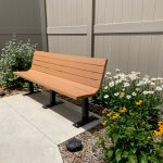 Bench at Barrick & Kristi Wilson Terrace at the Senior Behavioral Health Center at NMC Health Medical Center in Newton KS