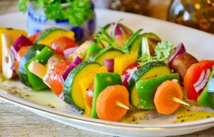 healthy food vegetable skewer kabob